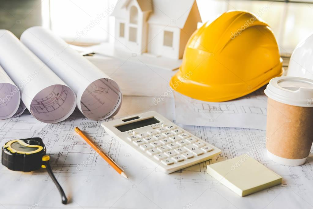 architectural equipment at workplace