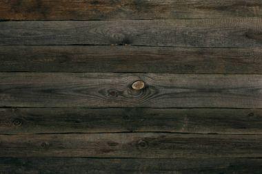 Natural dark brown wooden planks texture stock vector
