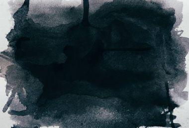 black watercolor texture