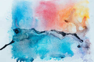Close up view of colorful watercolor texture stock vector
