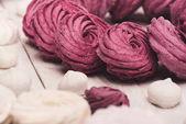 Fotografie berry marshmallows