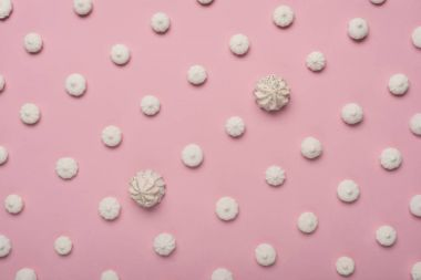 pattern with white marshmallows