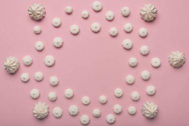 frame of white marshmallows