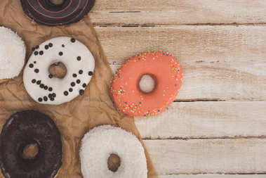 donuts on baking paper
