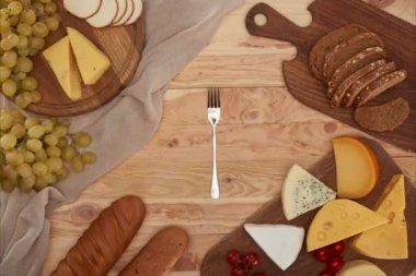 spinning fork and assorted cheese