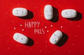 Fotografie weißen medizinische Tabletten