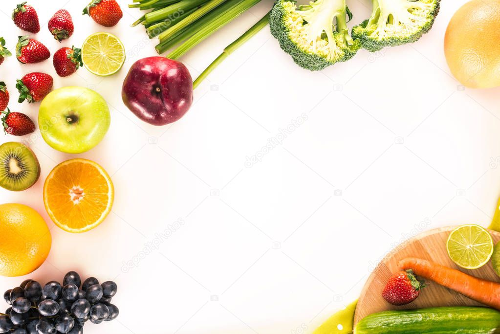 fresh vegetables, fruits and berries