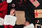 Fotografie Santa claus with presents list