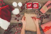 zápis na papyrus vánoční seznam
