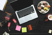 laptop, kreditních karet a prodej značek