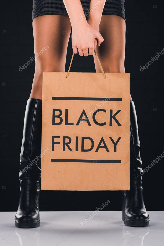 shopping bag with black friday