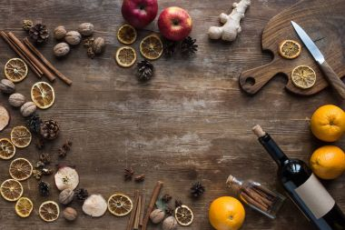 ingredients for homemade mulled wine