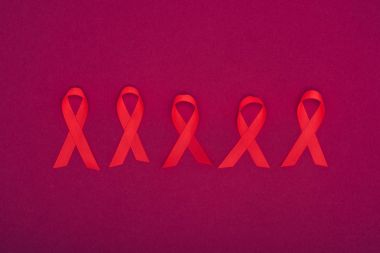 red aids ribbons