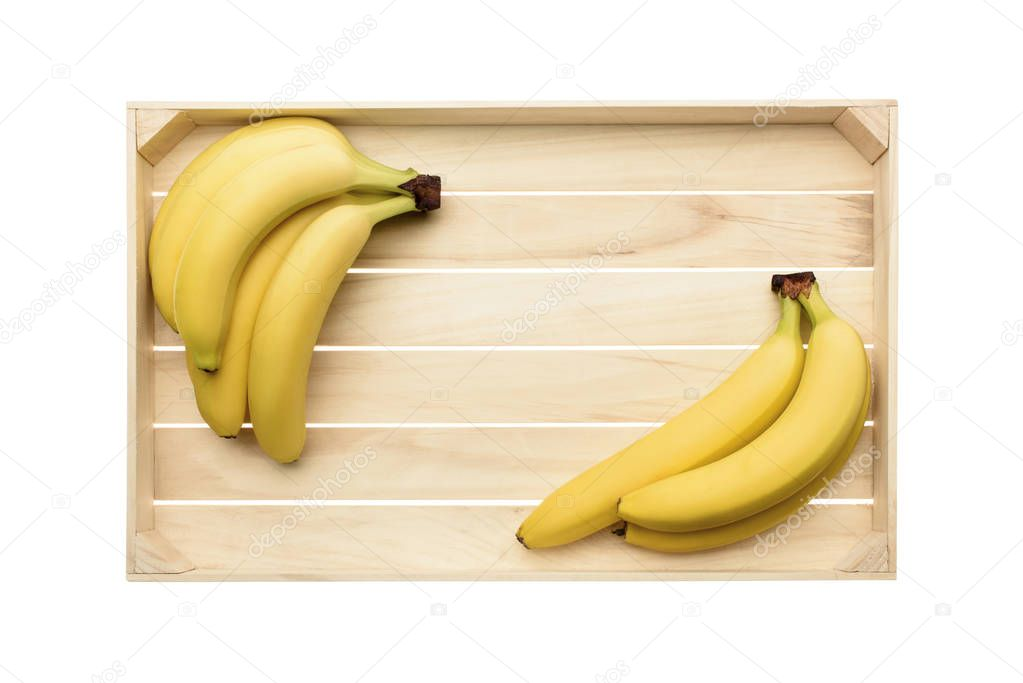 bananas on wooden tray