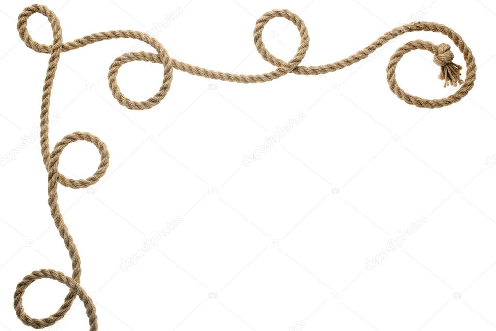 wavy rope with knot