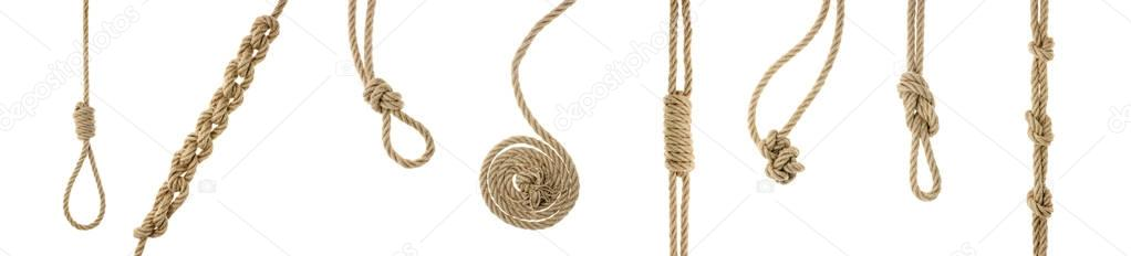 ropes with knots and loops