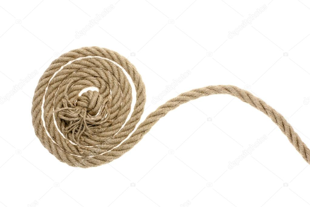rough rope with knot