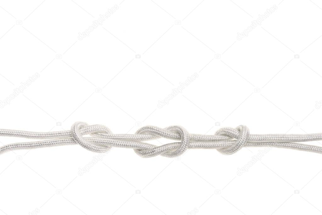 white rope with knots