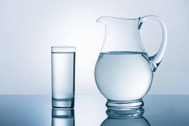 Jug and glass