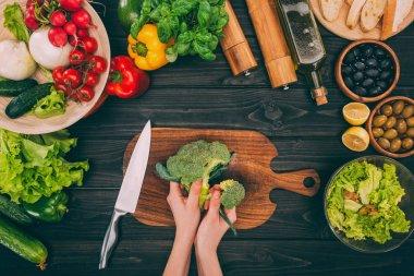 hands holding broccoli