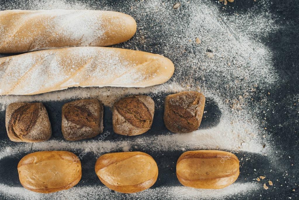 assortment of homemade bread