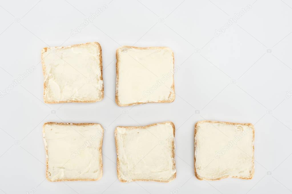 toasts with butter