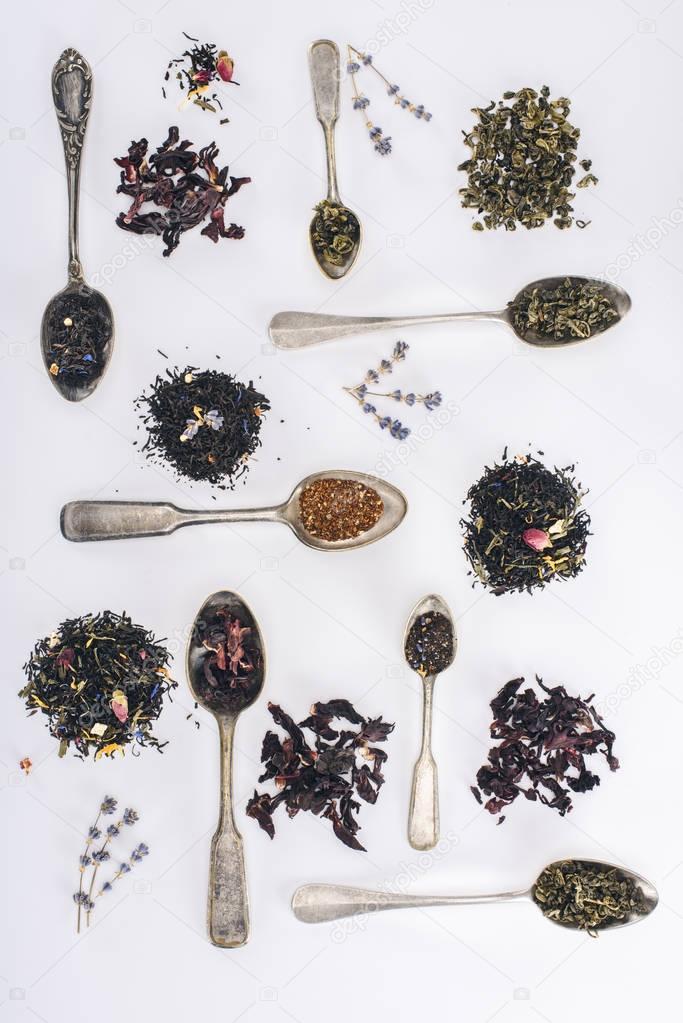 herbal tea and spoons