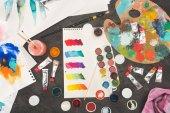 náčrt aktivní zóny smíšené barvy akvarel