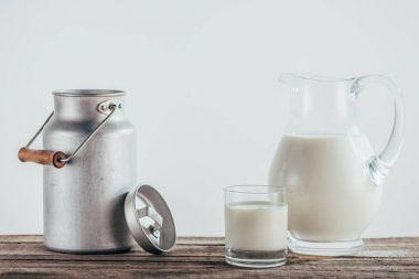 fresh milk in jugs