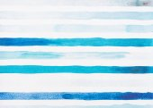 Fotografie light blue and turquoise watercolor lines on white