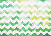zigzag white and green watercolor background