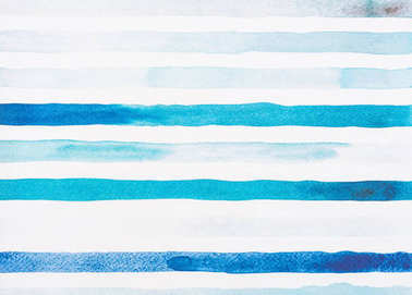 light blue and turquoise watercolor lines on white