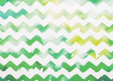 Zigzag white and green watercolor background stock vector