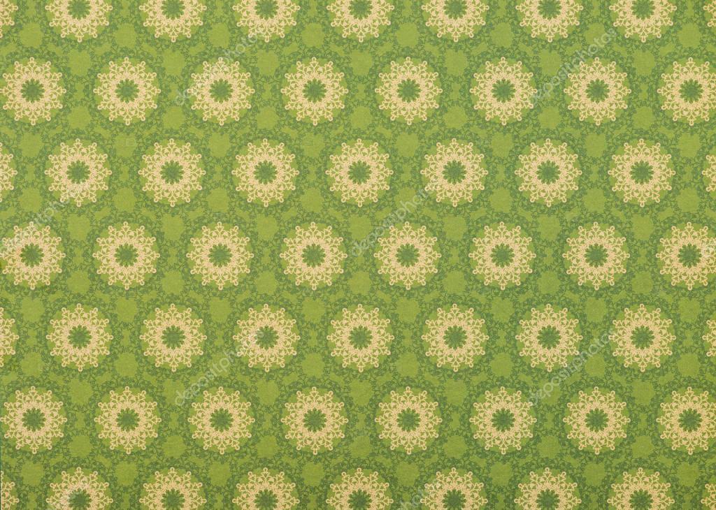 Set of beige mandalas on light green stock vector