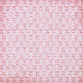 Fotografia confezione rosa dal design con motivo a fiori