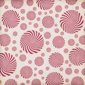 Fotografia beige confezione dal design con i cerchi rosso spin