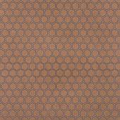 braunen Verpackung Design mit Sechsecken