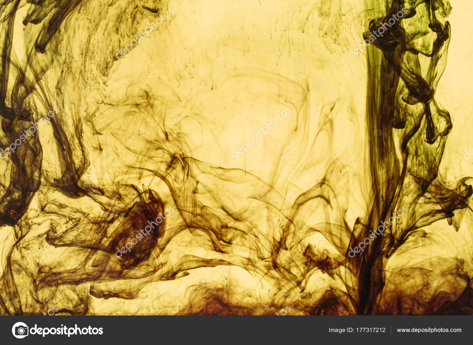 Completo Marco Pintura Amarilla Salpica Remolinos — Foto de stock ...