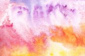 Fotografie Abstract painting with colorful watercolor background