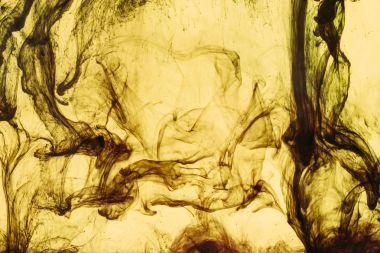 Full frame of yellow paint splashes and swirls stock vector
