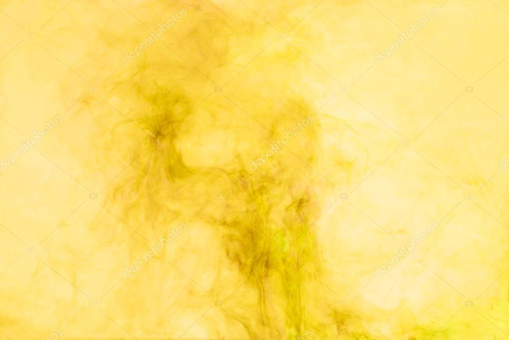 close up view of yellow paint splashes
