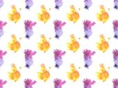 Fotografie seamless pattern with colorful watercolor paint spots, isolated on white