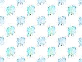 Fotografia Modello senza cuciture con macchie di vernice dellacquerello blu, isolato su bianco