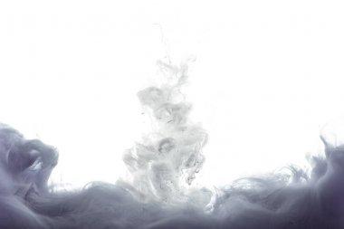 monochromatic grey paint splash, isolated on white