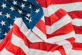 Photo full frame of folded american flag, presidents day celebration concept