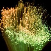 glowing green and yellow fiber optics texture