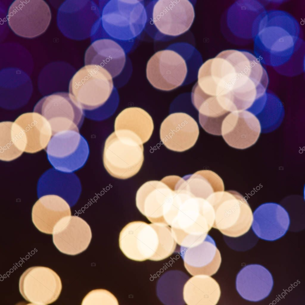 abstract yellow and blue bokeh texture background