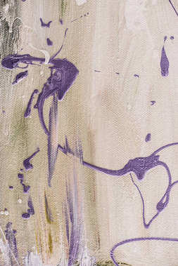 close up of abstract texture with artistic purple splatters