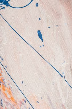 abstract texture with blue oil paint splatters