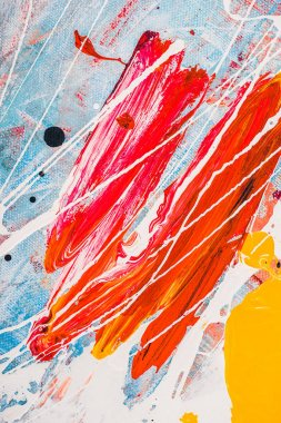 oil paint splatters on abstract multicolor background